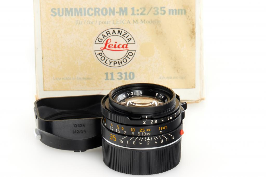 """Leica Summicron-M 2/35mm black 11310 """"made in Germany"""""""